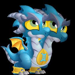Zodiac Gemini Dragon 1 Png Dragon City Dragones Dibujos De Dragón