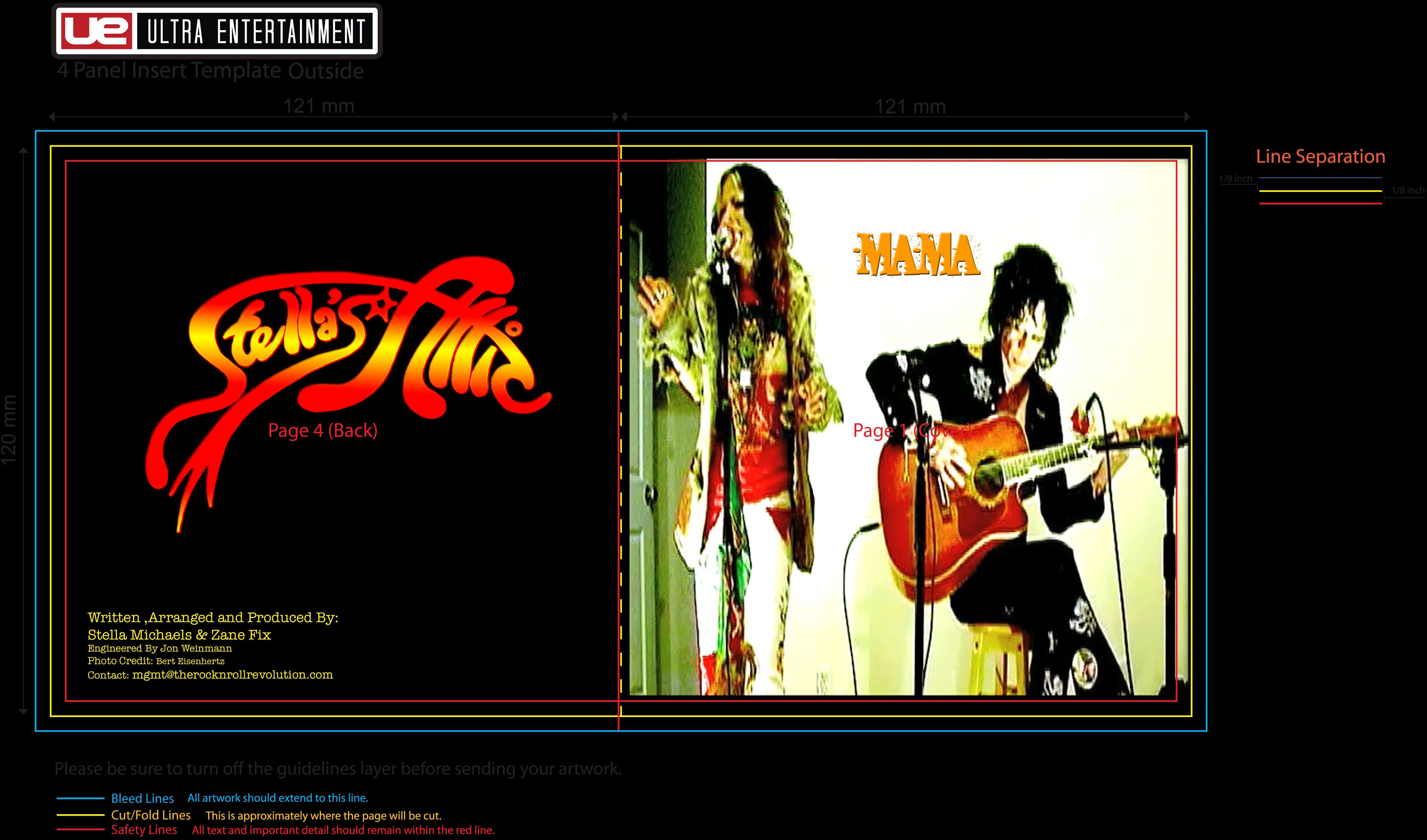 """Album Cover for """"Mama"""" acoustic Single Stella's Attic {Stella Michaels & Zane Fix}"""