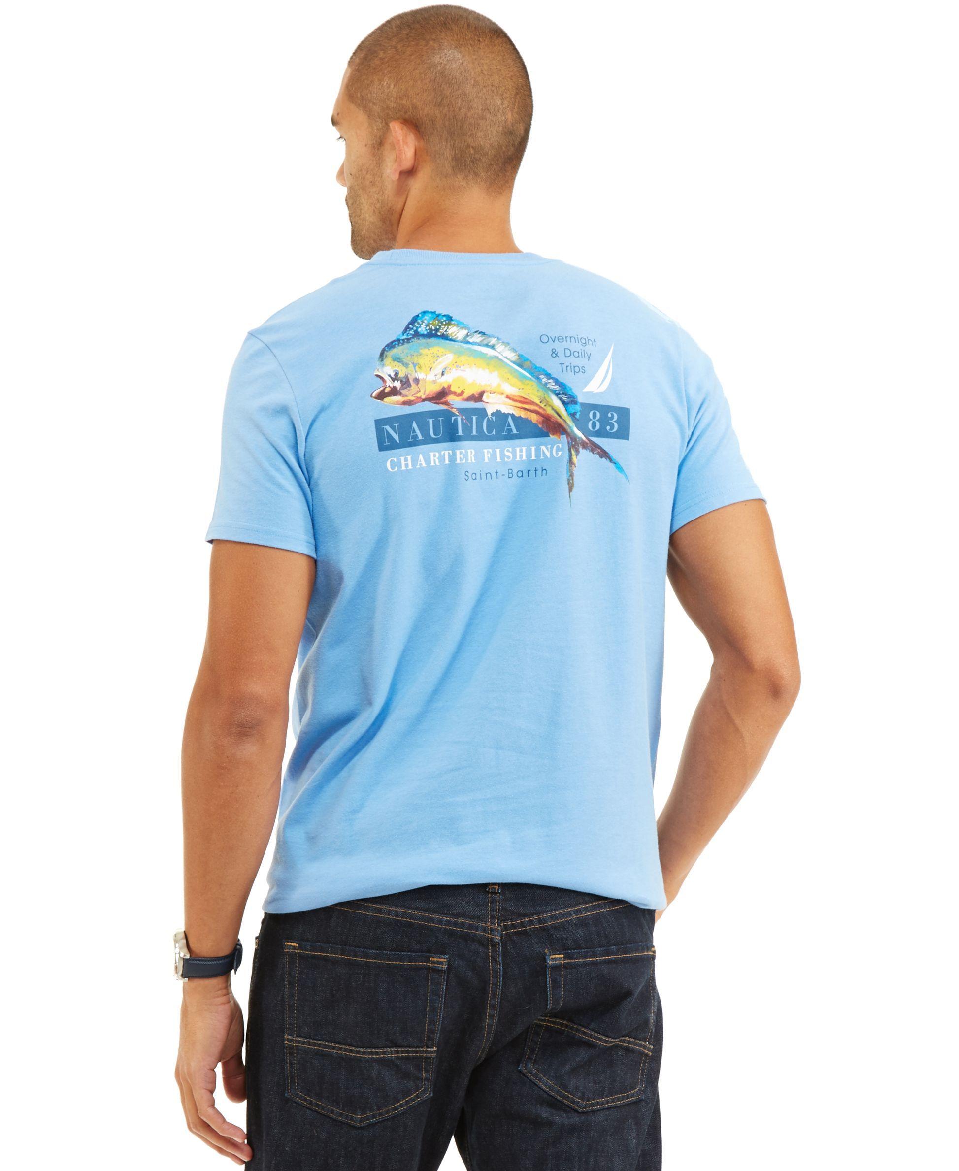 d0ca83cb Nautica Big and Tall Charter Fish Graphic-Print Logo T-Shirt ...