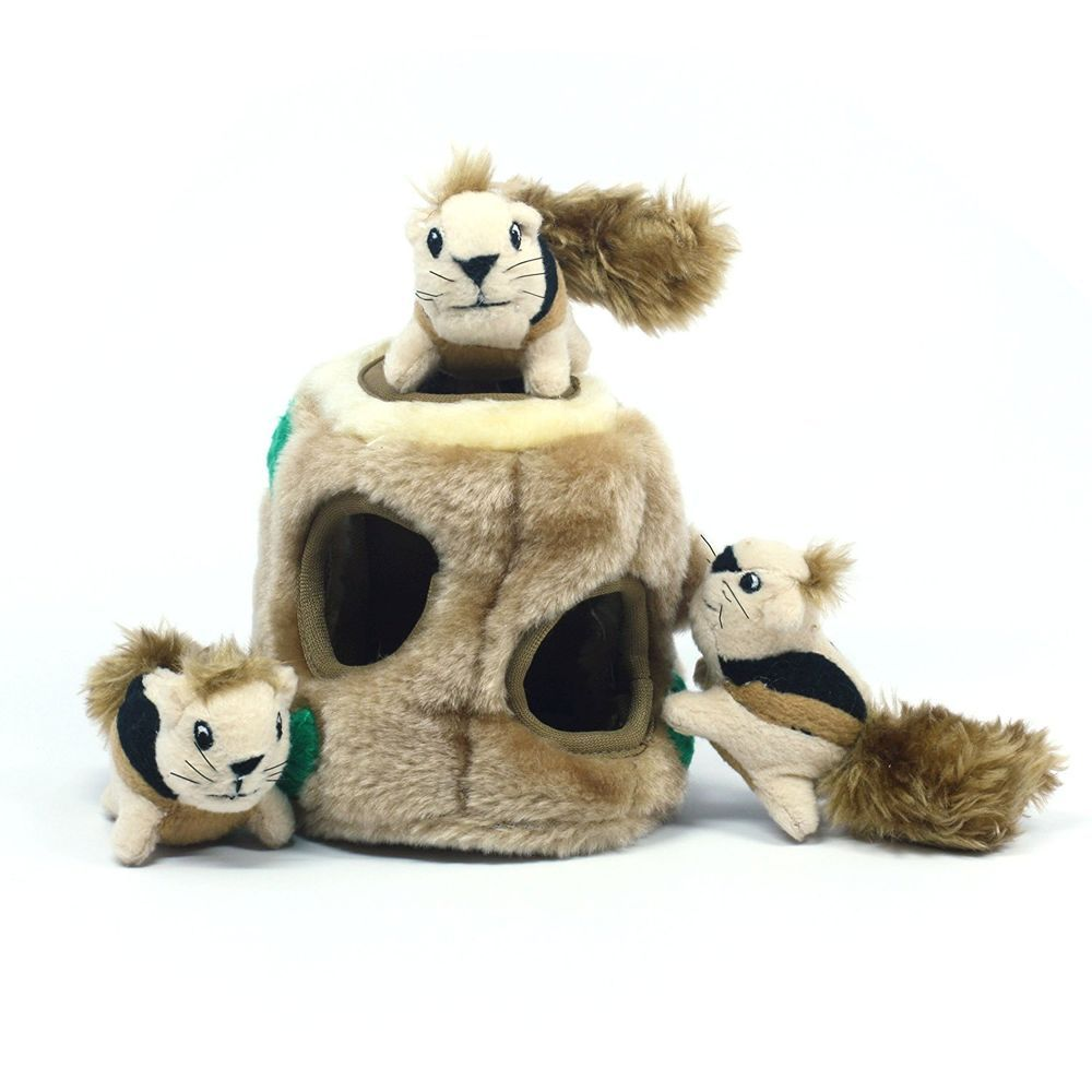 Outward Hound Dog Toys Hide A Squirrel Plush Dog Toys Hide And