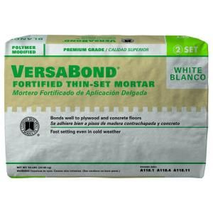 custom building products versabond white 50 lb fortified thinset mortar building products