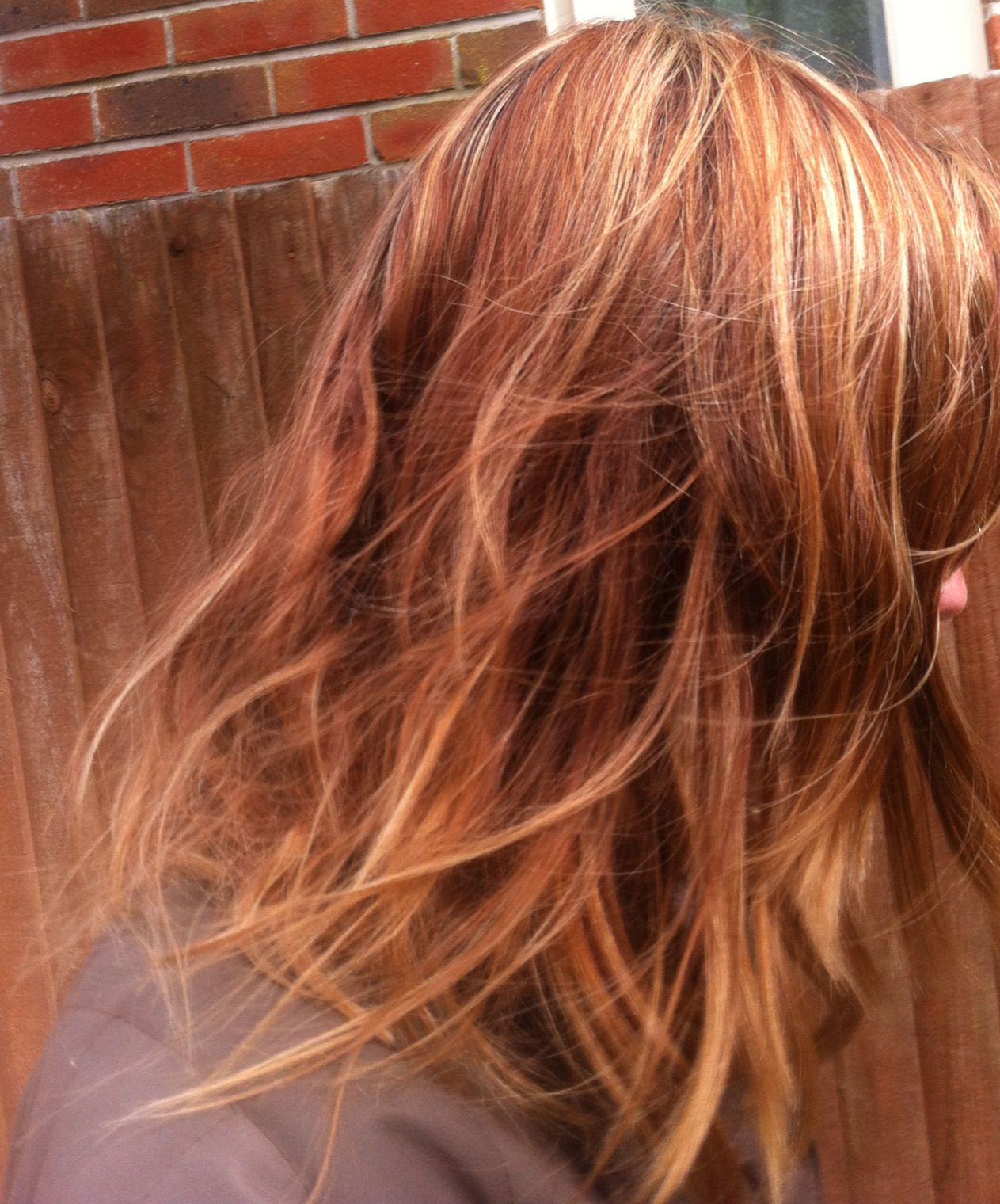 Bleach Blonde Highlights In My Faded Red Light Brown Copper Hair