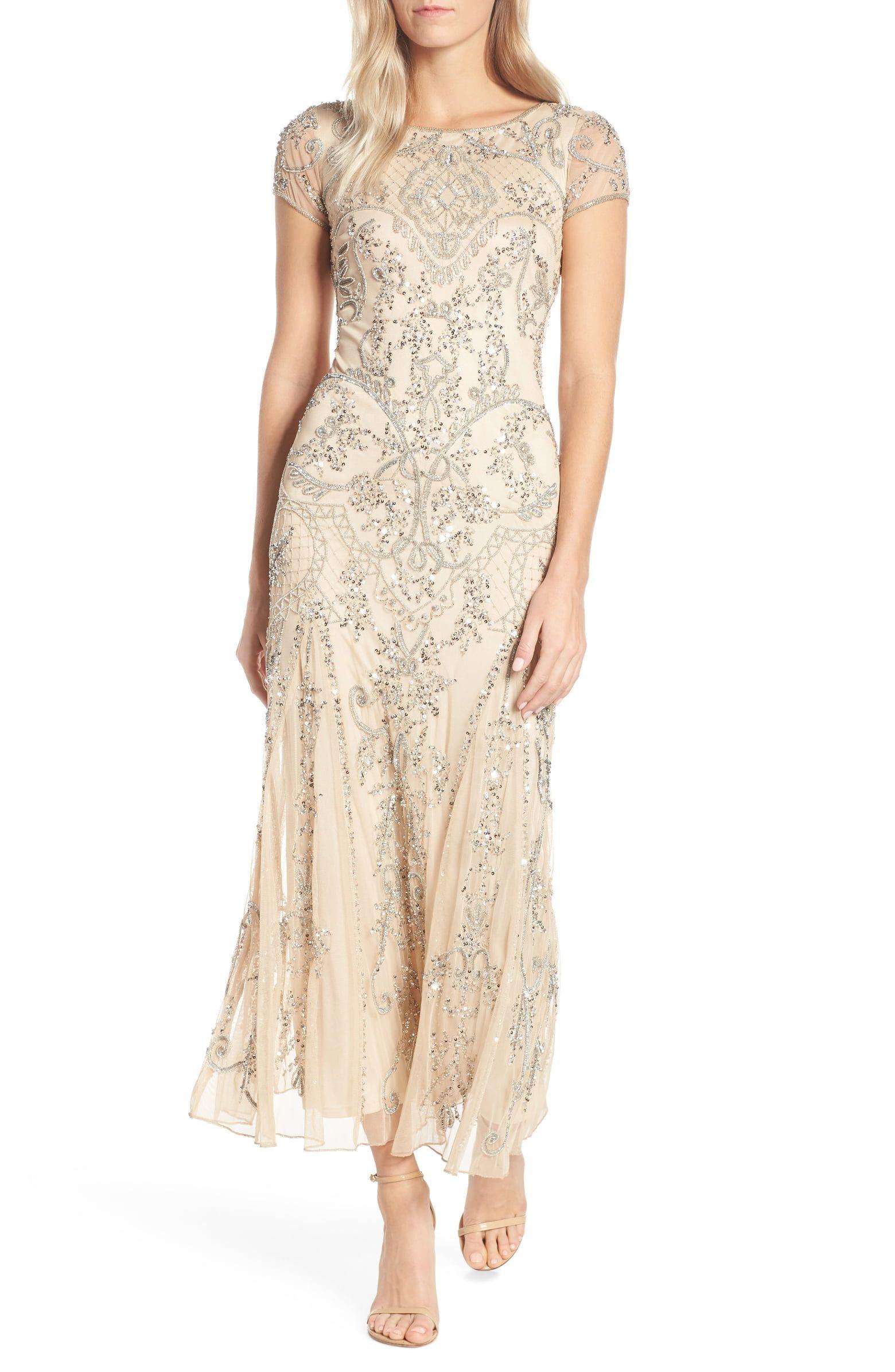 5e53f3c8d9845 Pisarro Nights Embellished Mesh Gown (Regular & Petite) | Nordstrom ...