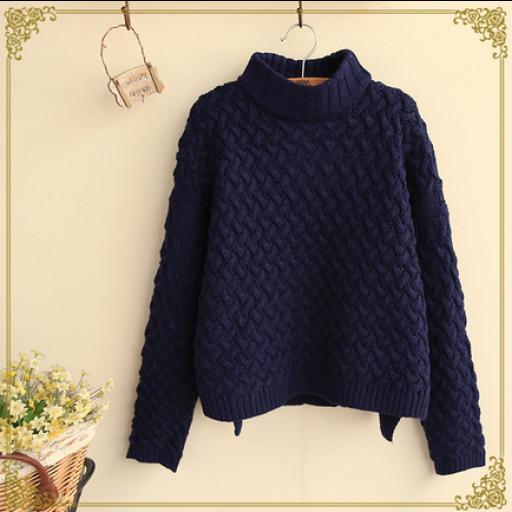 بلوزة هاينك من الصوف المحيوك بعناية فائقة هاينك نسائي واسع الهاينك بلون كحلي متوفر ايضا بالالوان بيج عنابي بني فا Pullover Fashion Sweaters