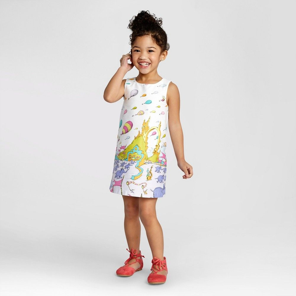 3cecc4c69662 Toddler Girls  Dr. Seuss Shift Dress from OshKosh Fresh White 3T ...