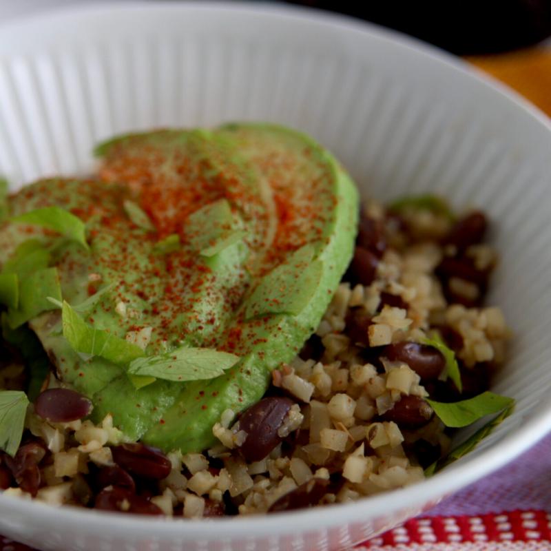 Low Carb Vegan Rice And Beans Meat Free Keto Vegan Keto Recipes Recipe Low Carb Vegan Cauliflower Dishes Vegan Keto Recipes