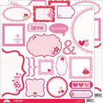 Doodlebug Design - Sweet Cakes Collection - Cute Cuts - 12 x 12 Cardstock Die Cuts