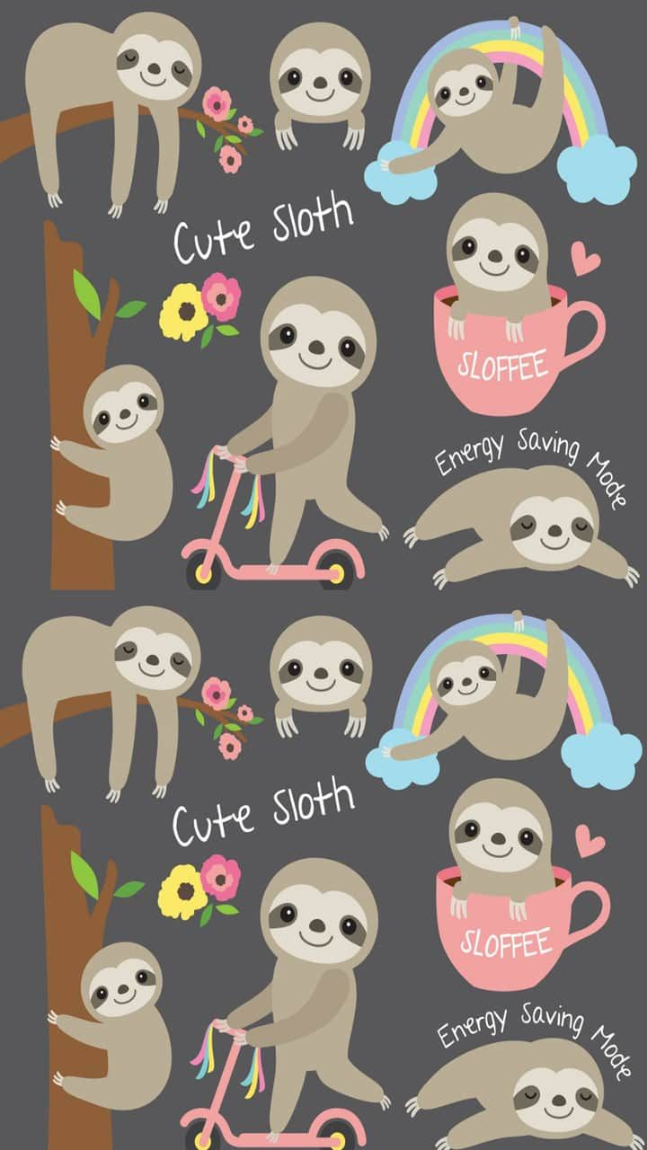 Cute Sloth Discovered By Mayavyeℓsus Giyaℓ On We Heart It Sloth Cute Sloth Cute Wallpapers