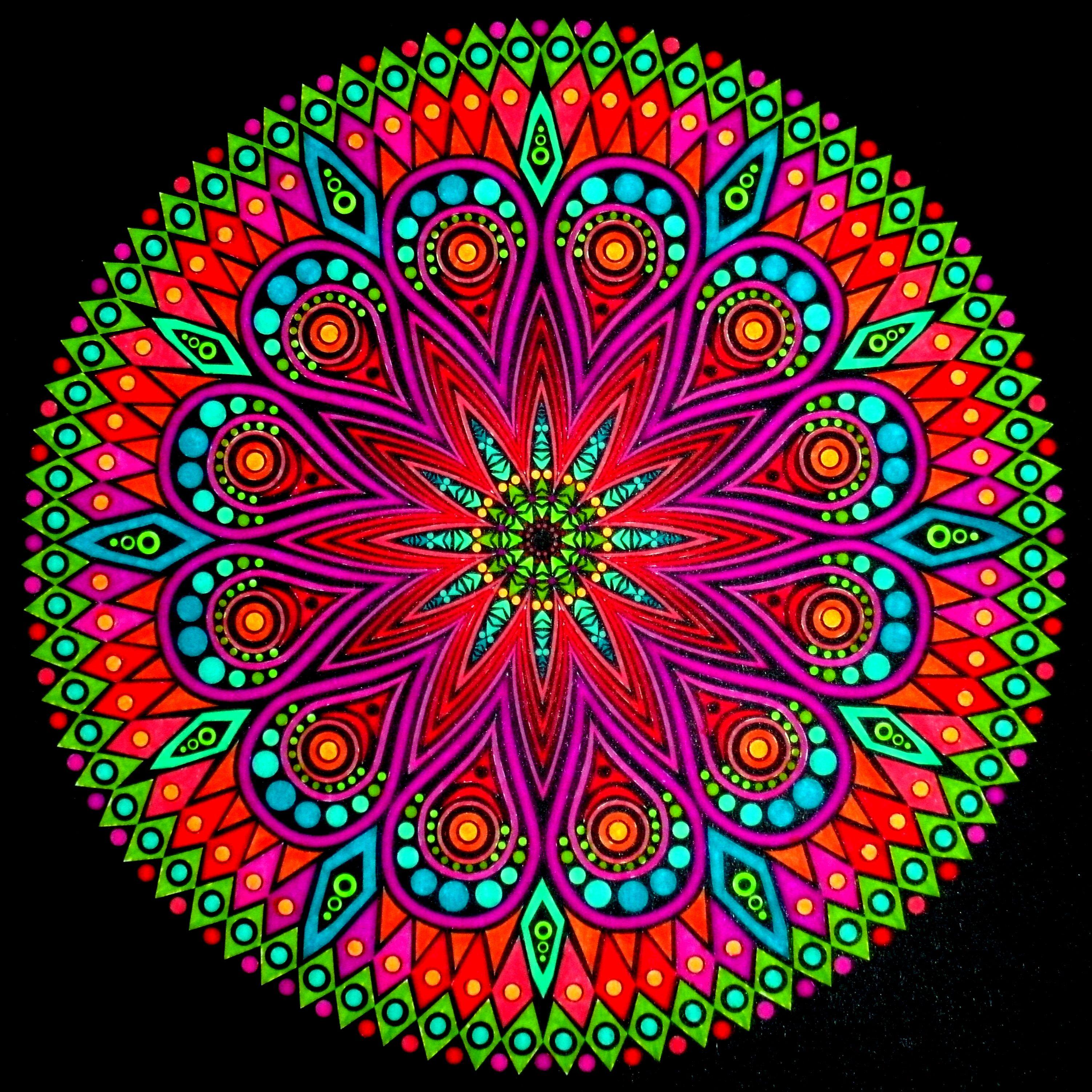 Me encantan los colores y la sensacion de paz que da - Colores para mandalas ...