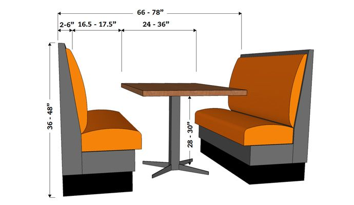 Selected furniture booths guide fifties 39 pinterest for Restaurant booth building plans