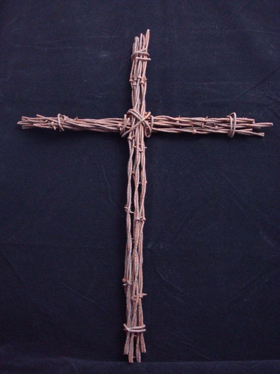 Barbed Wire Cross Rustic Wall Art