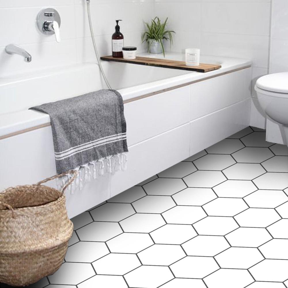 Vinyl Floor Tile Sticker Panel L, Tile Floor Bathroom