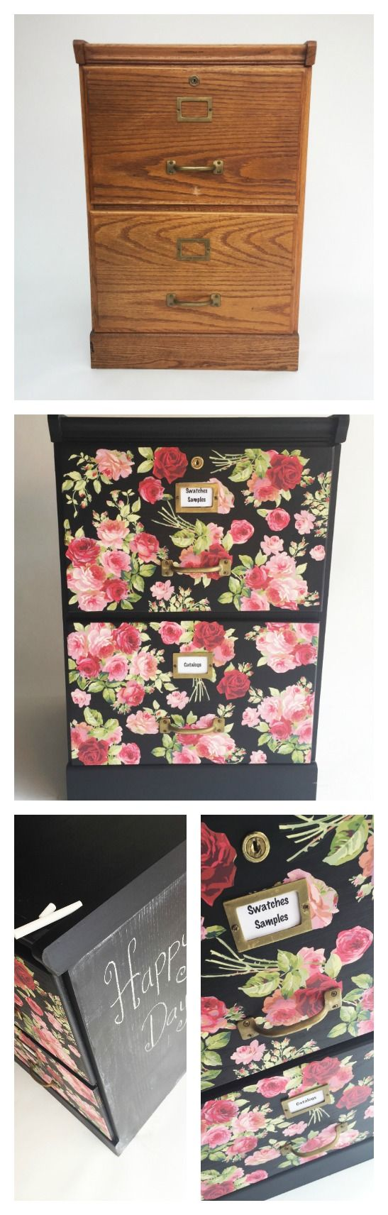 Makeover furniture on a budget using decoupage and chalk paint! Cathie & Steve rehab a thrift store file cabinet into a custom piece perfect for a home office! Join in for tips and tricks using Mod Podge Furniture and FolkArt Home Decor Chalk to upcycle this file cabinet.