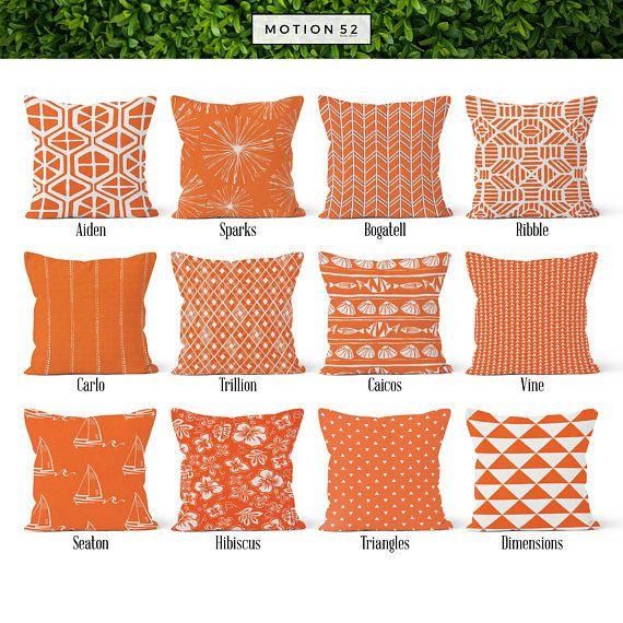 Orange Pillow Cover Decorative Throw Covers Euro Sham 16 X 18 20 22 24 26