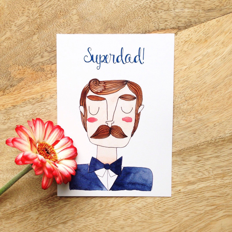 Super Dad Ansichtkaart Vaderdag Kaart Voor Je Pap Pappa