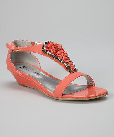 Look what I found on #zulily! Coral Felicia Sandal by Bellini #zulilyfinds