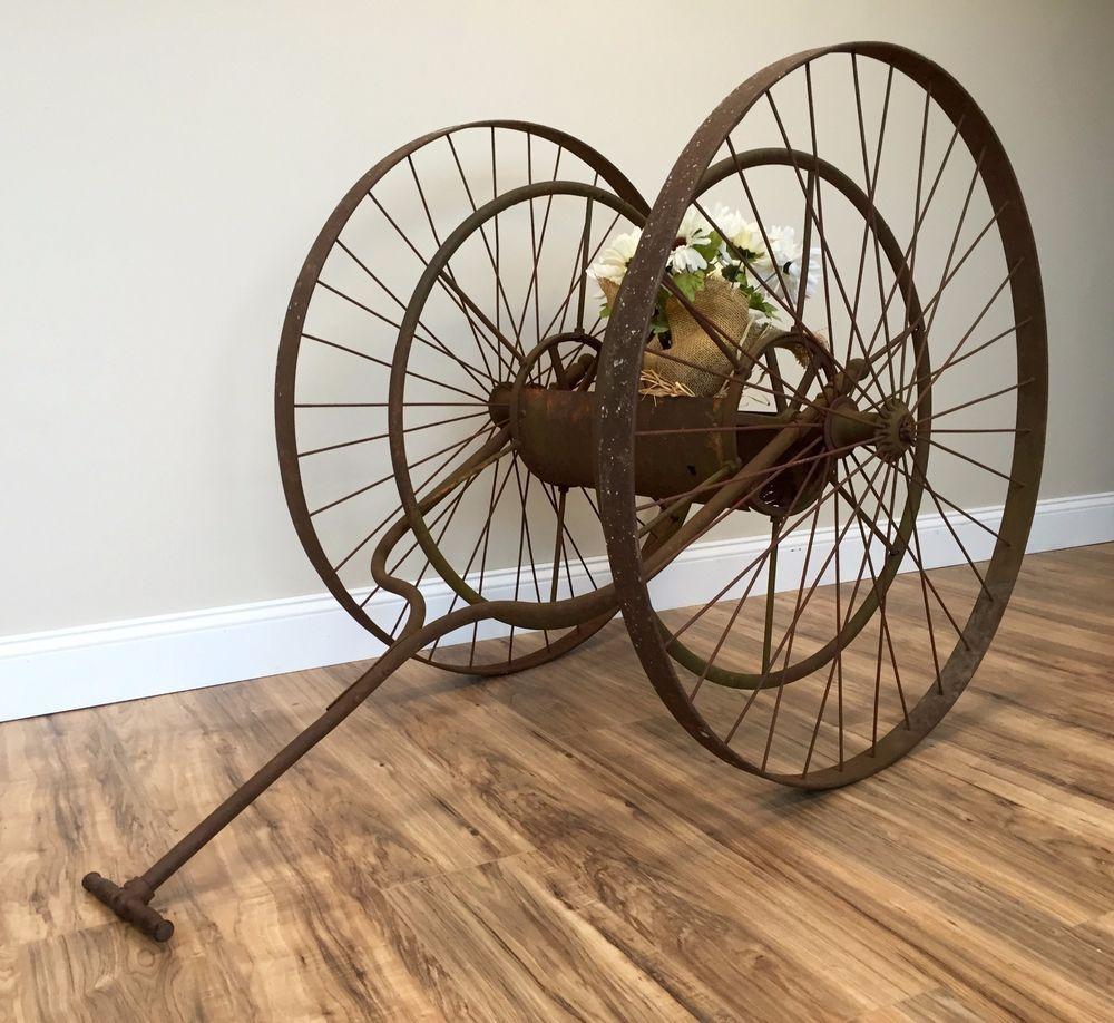 fire cart Vintage hose
