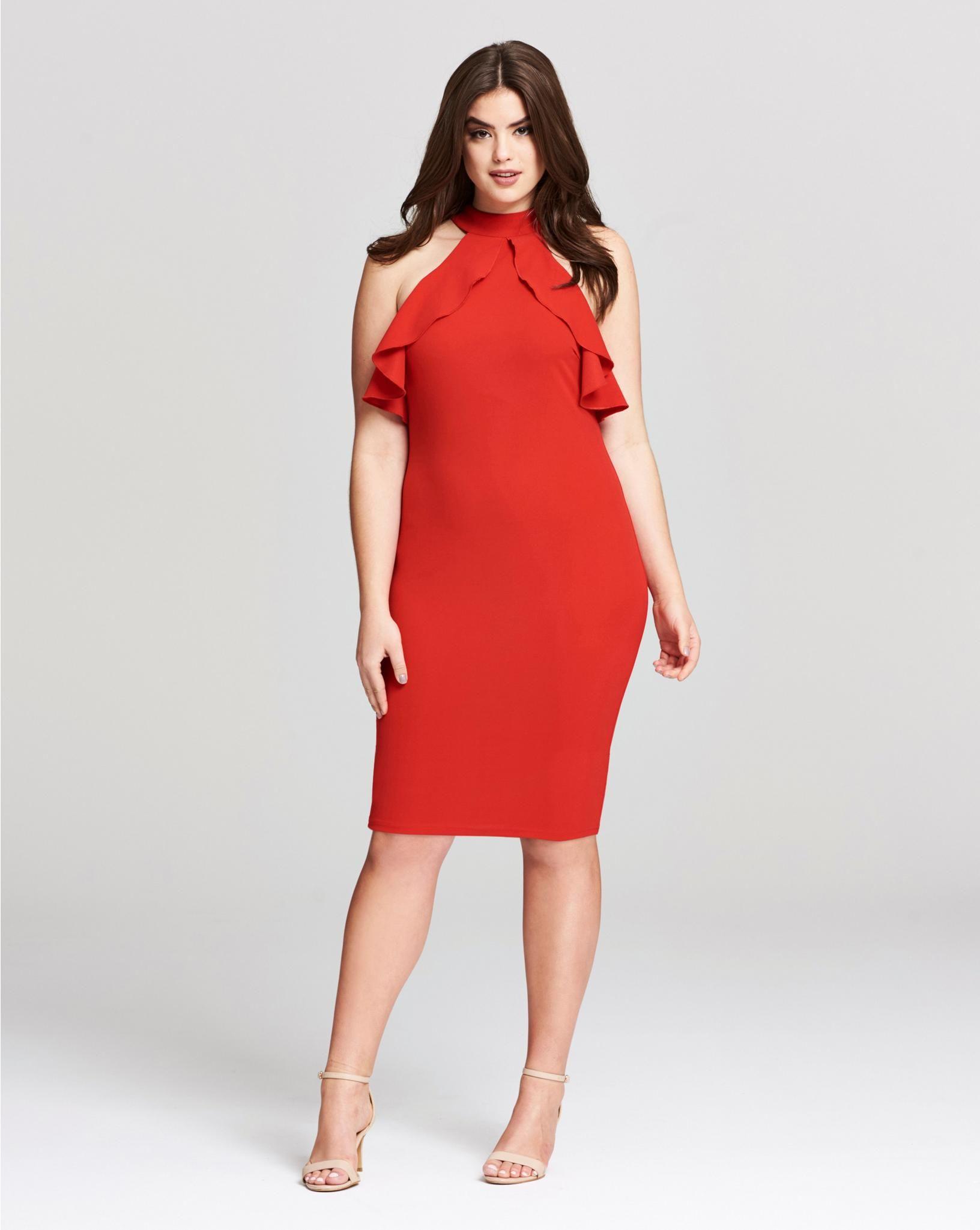 Ax paris ruffle detail midi dress dresses midi maxi