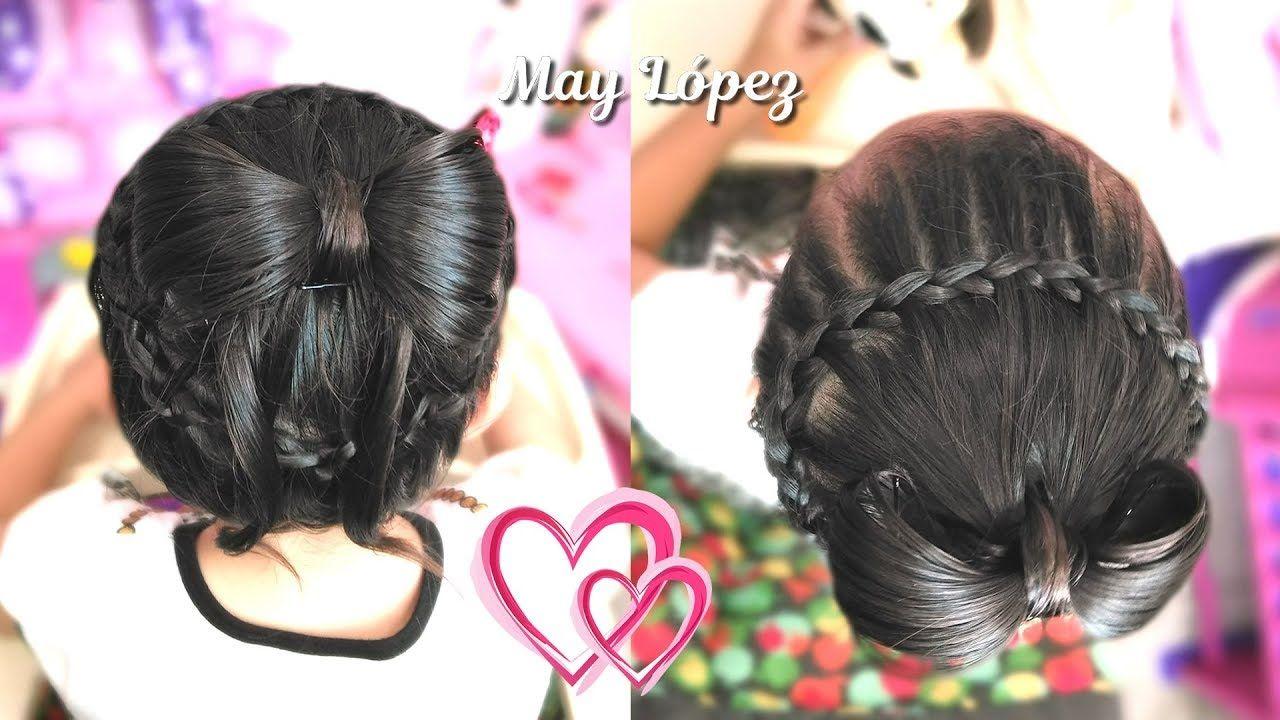 Peinado Para Ninas Para Fiesta De Graduacion Con Trenza Y Mono Peinado Peinado De Frozen Peinados Con Trenzas Para Ninas Peinados Para Ninas