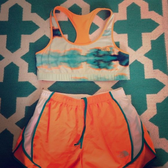 The North Face Reversible Sports Bra Size L, I have the matching shorts in my closet, would make a perfect bundle  The North Face Intimates & Sleepwear Bras