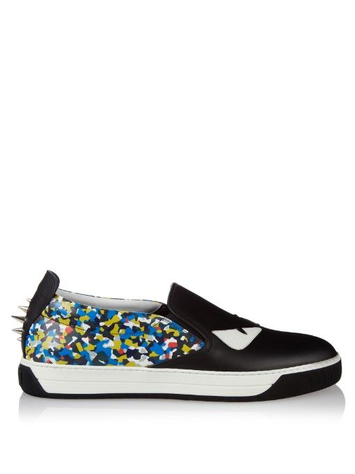 Low-top leather trainers Fendi W3OKGSOsLF