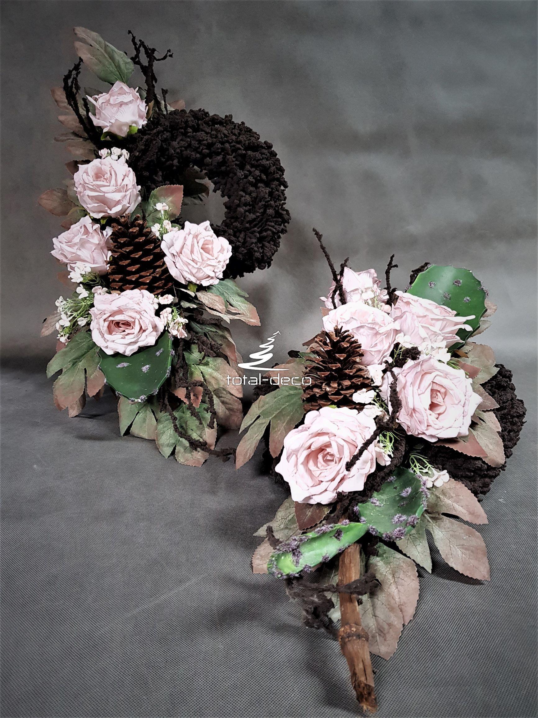 Nowoczesny Stroik I Bukiet Na Cmentarz Zestaw Pieknych Kompozycji Na Cmentarz Funeral Flowers Floral Flowers