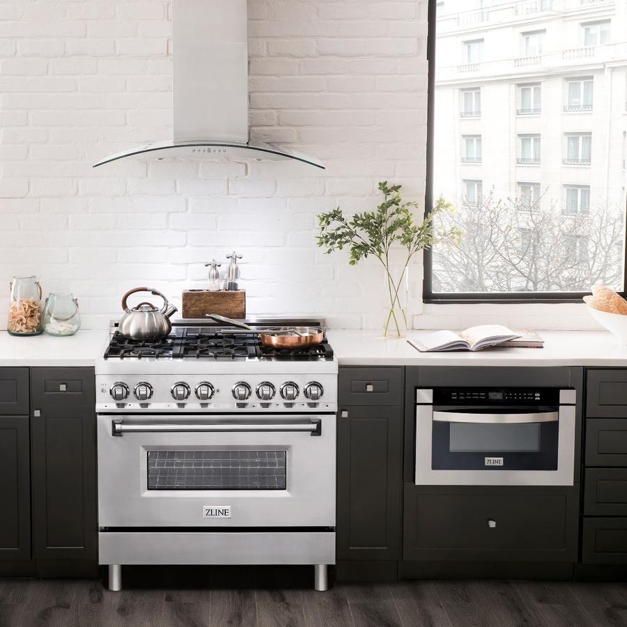 Zline 36 Stainless Steel Oven Stainless Steel Range Kitchen Installation