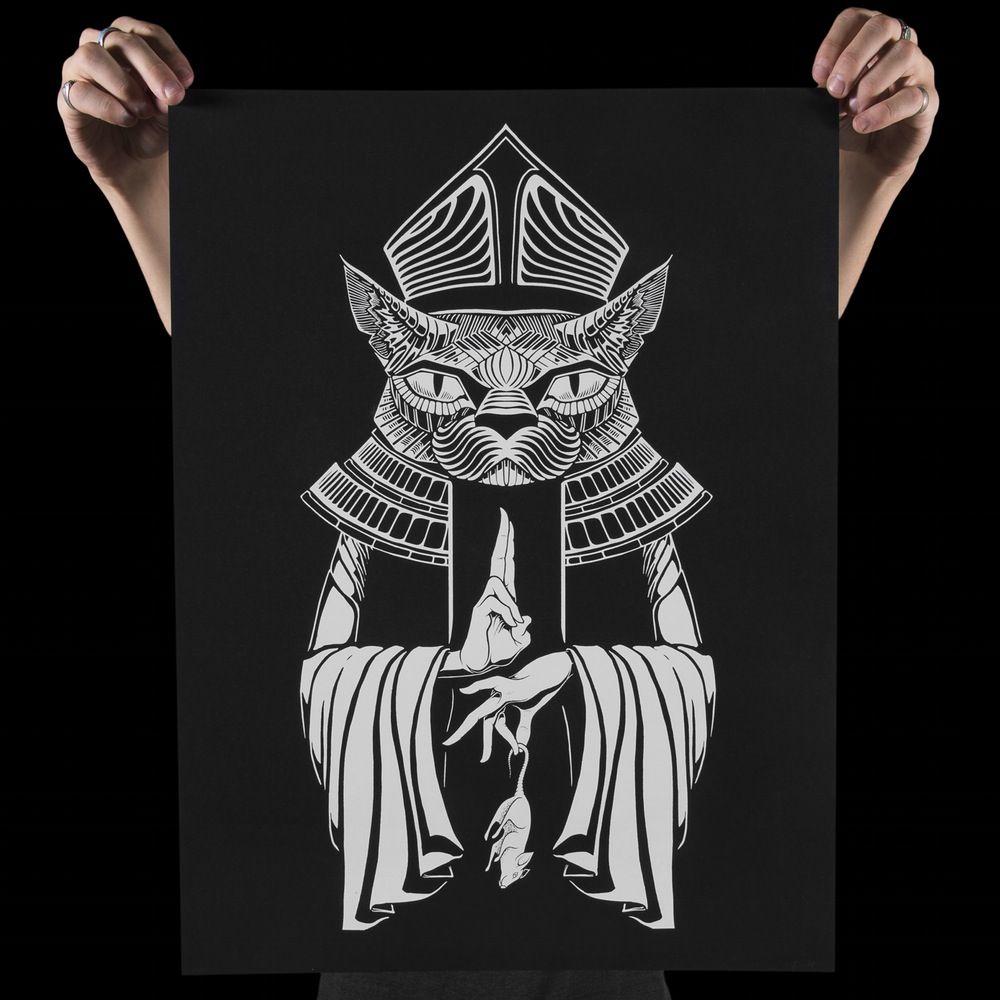 IHSQUARED Pope Cat Print