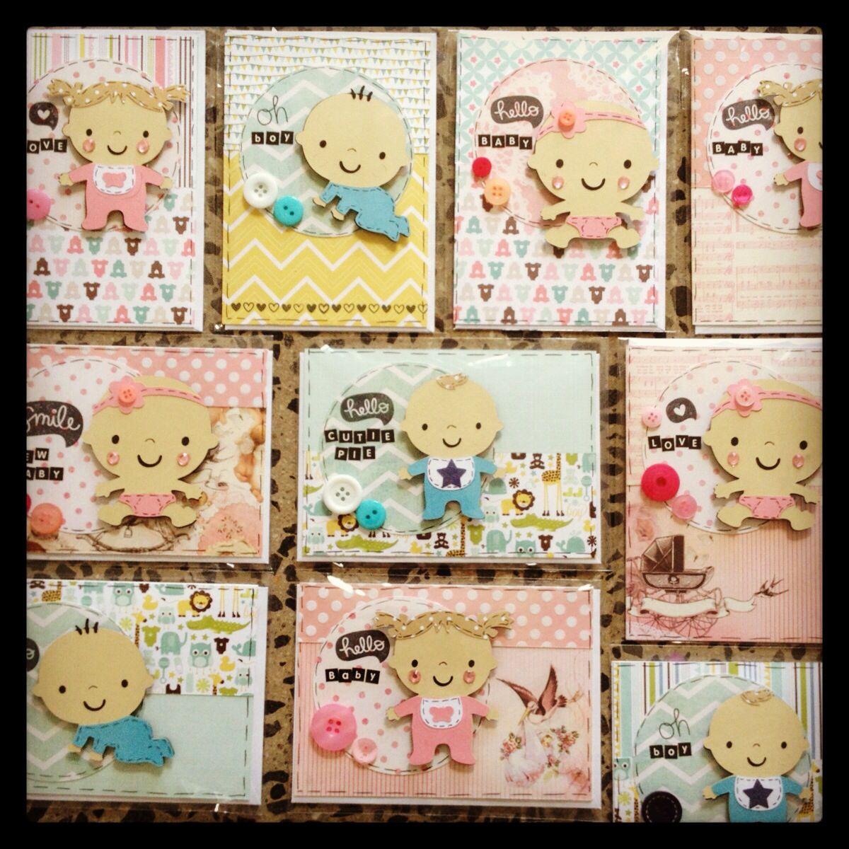 Cards by Willow Fox Baby greeting cards, Cricut baby
