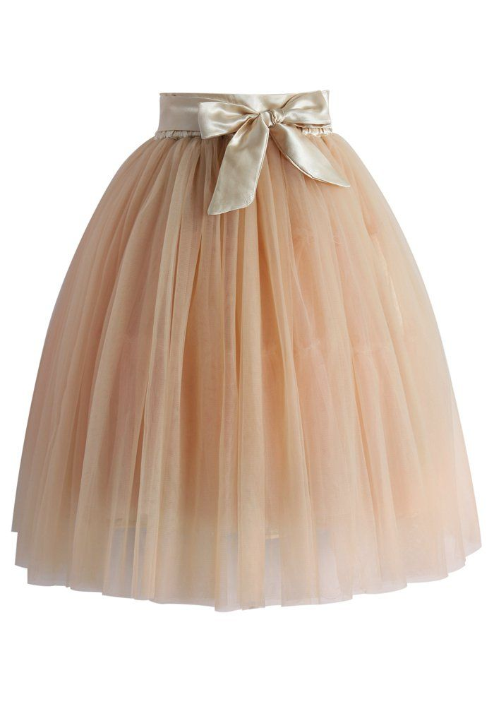 f5870c0f1a1 Amore Tulle Midi Skirt in Ice Orange - Tulle Skirt - Trend and Style -  Retro