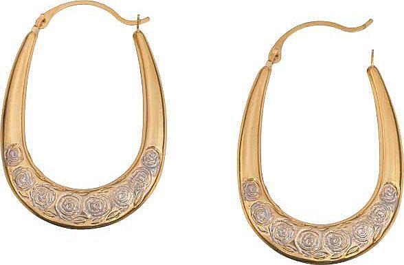 Argos rose gold creole earrings