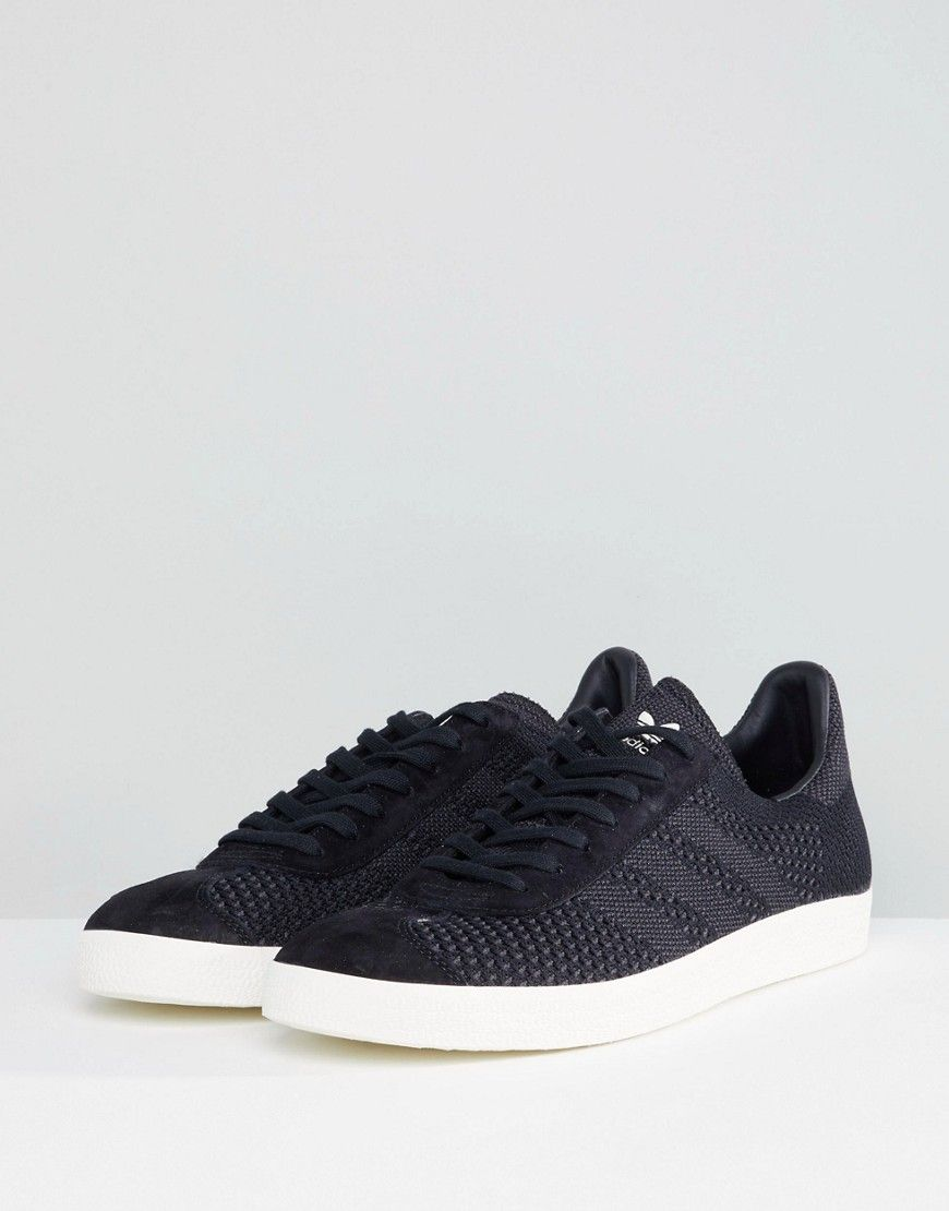 check out fashion styles hot product adidas Originals Gazelle Primeknit Sneakers In Black BZ0003 ...