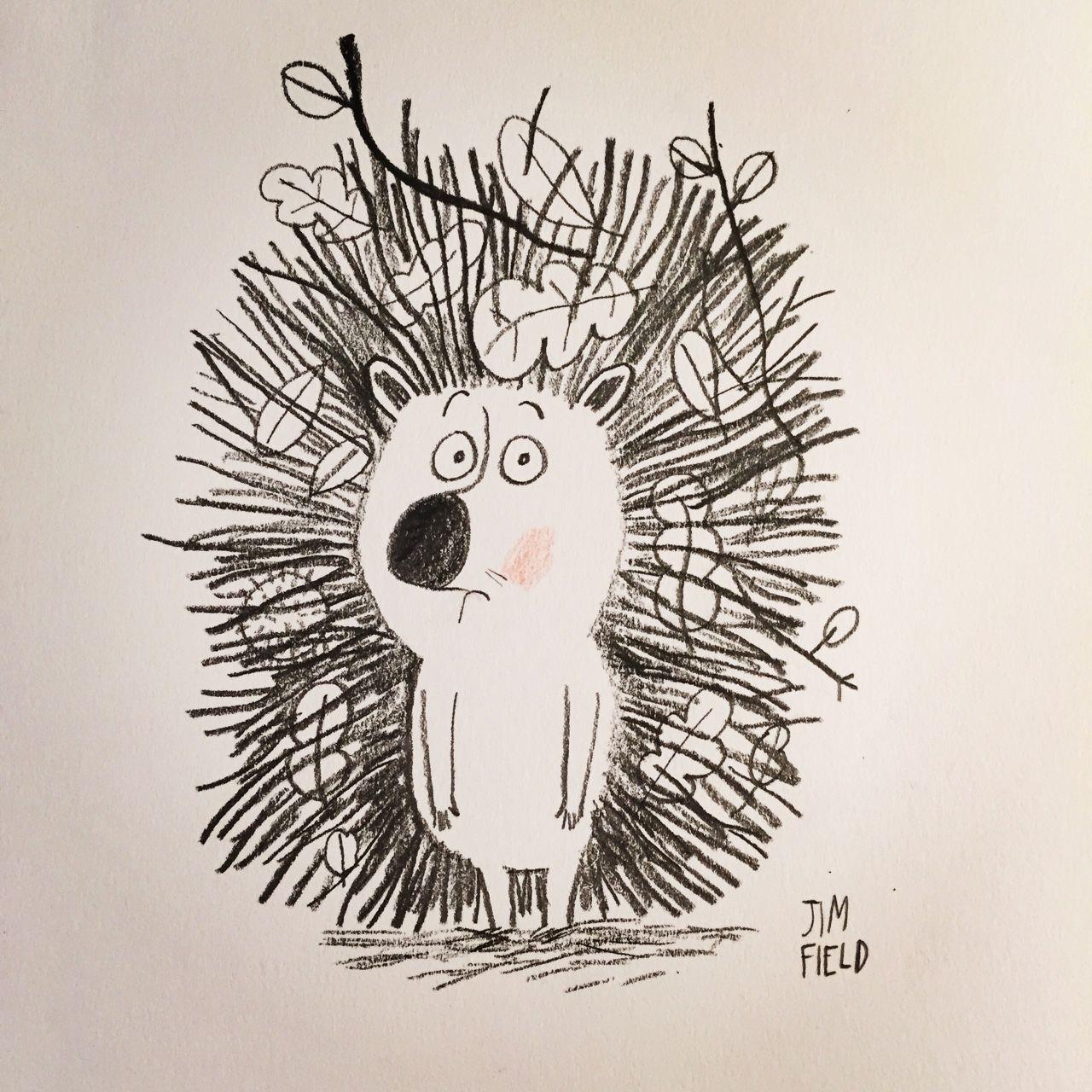 Рисунки прикольного ежика