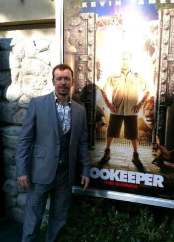 Donnie at the Zookeeper premiere