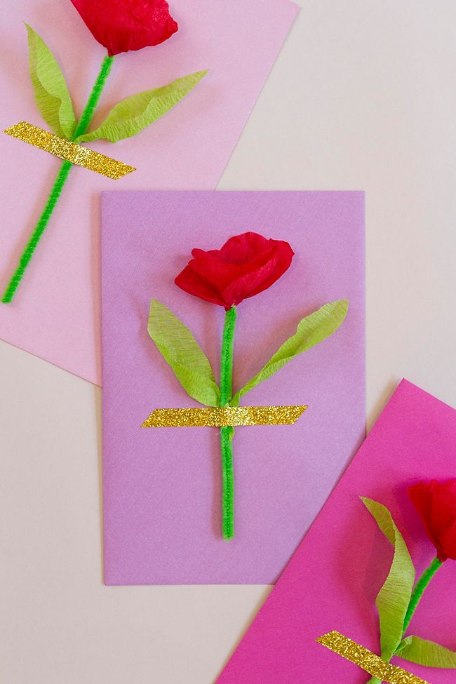 Diy Crepe Paper Flower Mothers Day Gift Paper Flowers Diy Paper