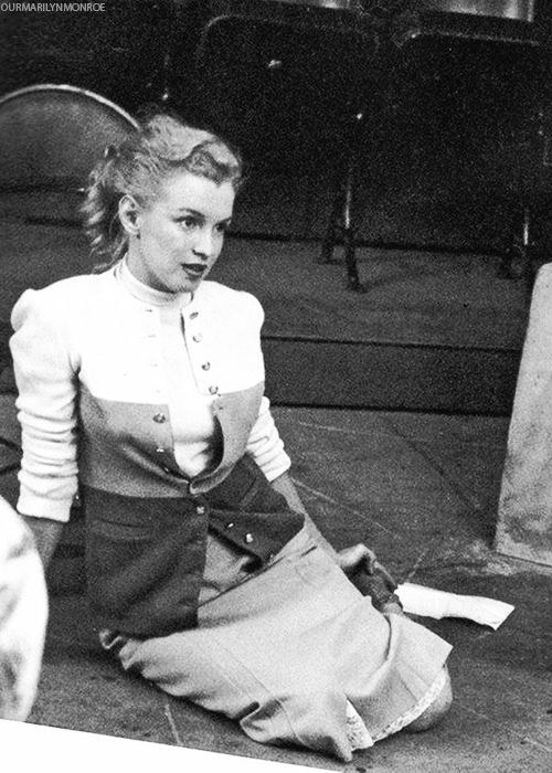 Marilyn Monroe at a tryout at the Players Ring Theatre. Photo by Richard C. Miller, March 12th 1950