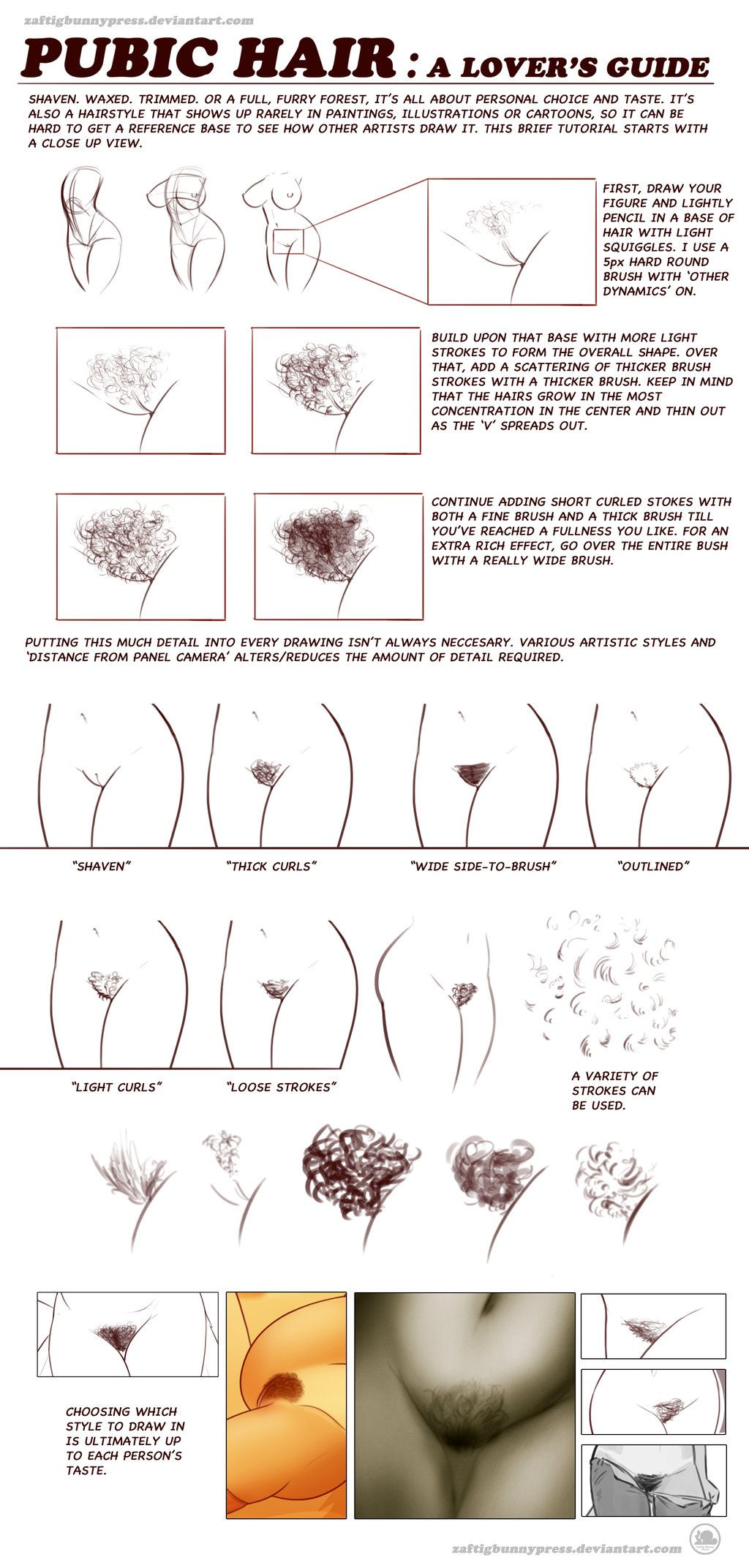 Pubic Hair Tutorial by ZaftigBunnyPress | tutorial | Pinterest ...