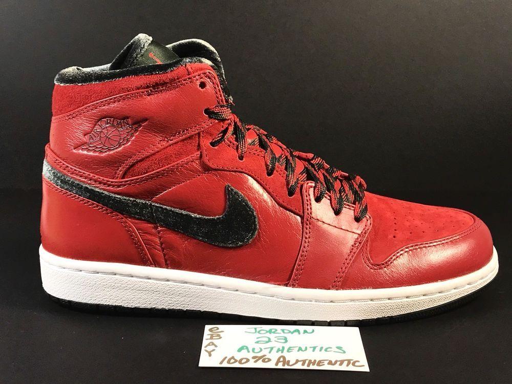 14daa2412e84 NIKE AIR JORDAN GUCC I 1 RETRO 332134-631 VARSITY RED DARK ARMY 9.5 vi xi  toe v  fashion  clothing  shoes  accessories  mensshoes  athleticshoes  ad  (ebay ...