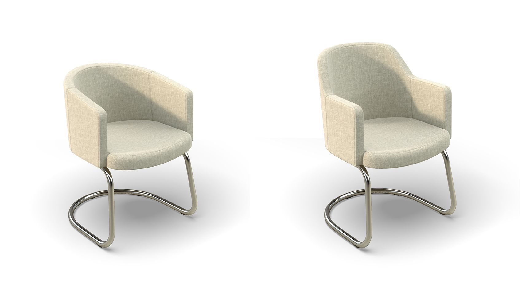 Choose different seat backs and bases for the Cinque cafe chair