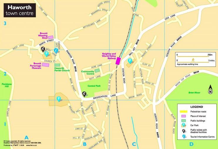 Haworth tourist map Maps Pinterest Tourist map and City