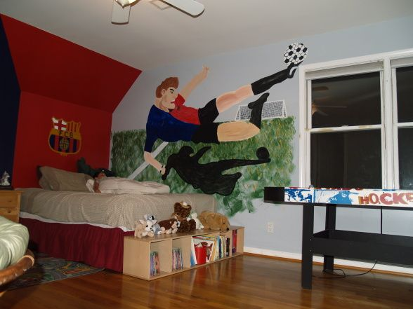 soccer made bedroom boy make of like decor kids ball wall for room him stickers my ideas size large girls decorating ill
