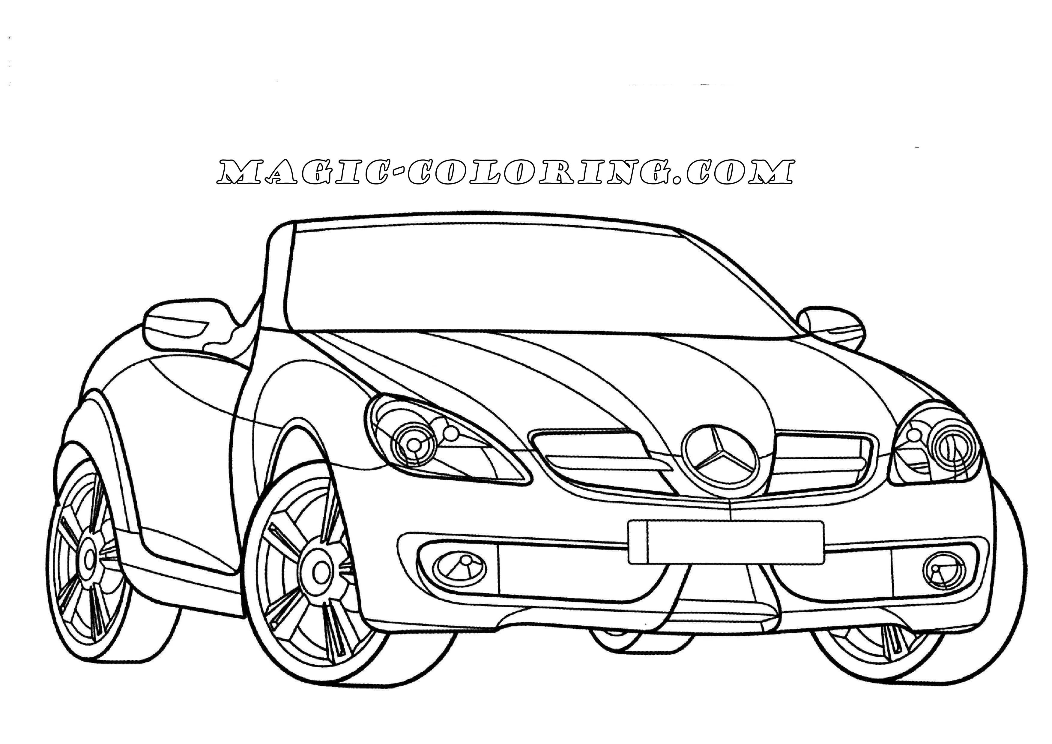 Transportation Coloring Pages Mercedes Benz Slk