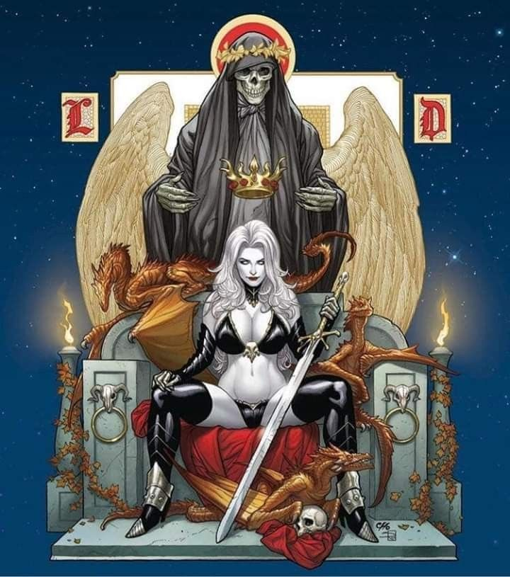 Pin By Kurupt On Frank Cho Dark Fantasy Art Frank Cho Lady Death