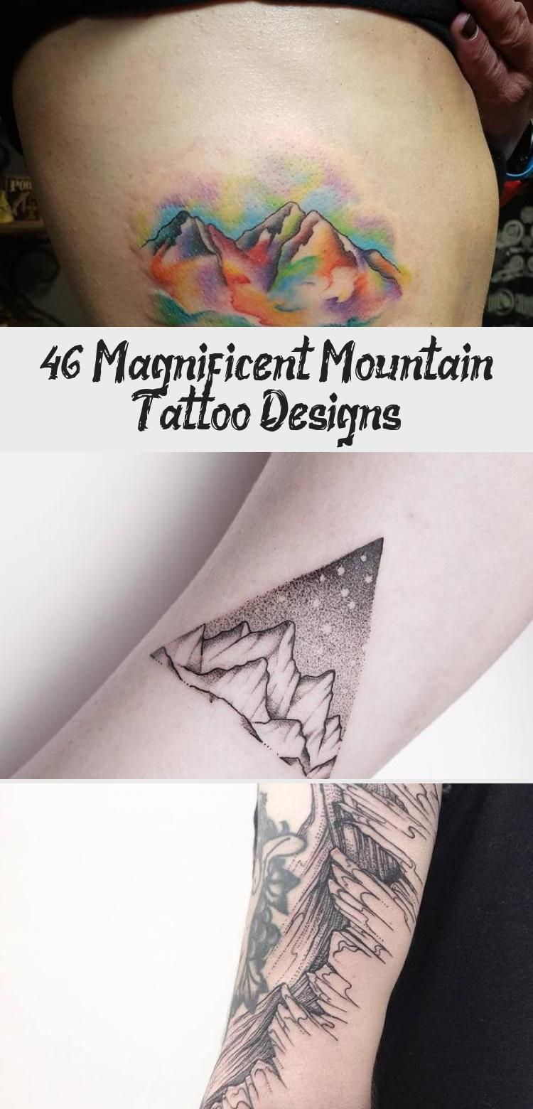 Photo of Mountains and Crescent Moon Tattoo by tattooist_dal #moontattoosSleeve #moontatt…