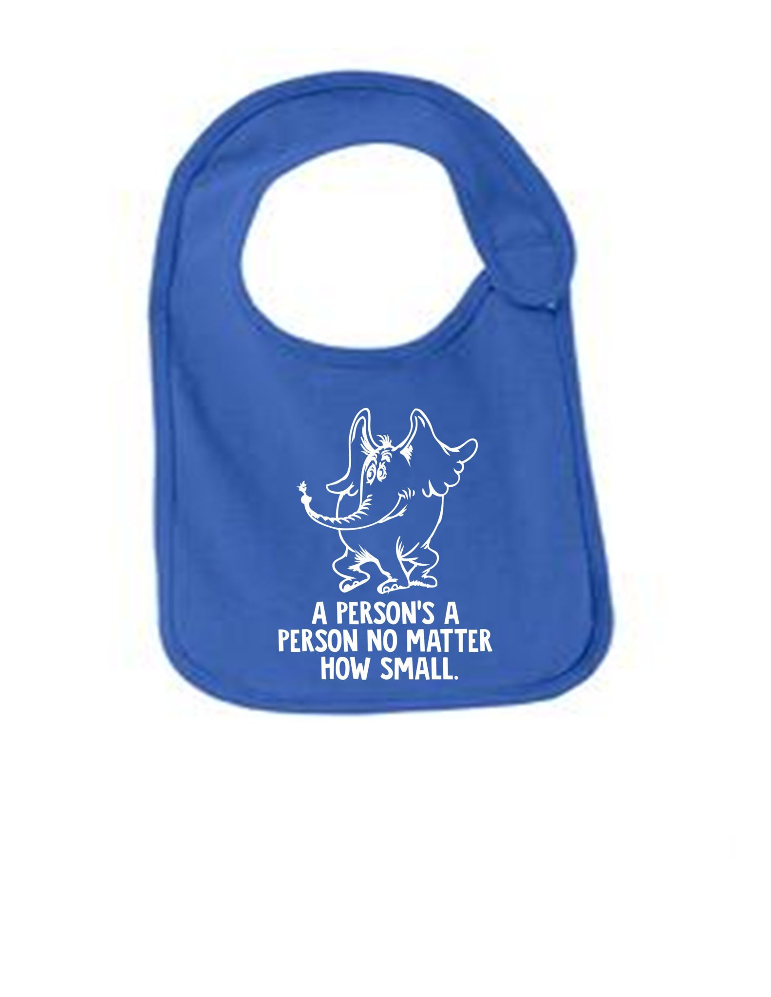 A Persons A Person Funny Infant Jersey Bib