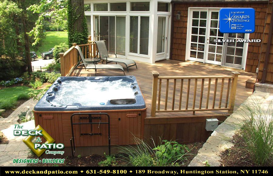 Hot Tub Next To Deck. Phase 2 Of Patio Project