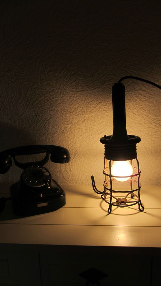 Original RADEMACHER Lampe Werkstattlampe Bauhaus Handlampe