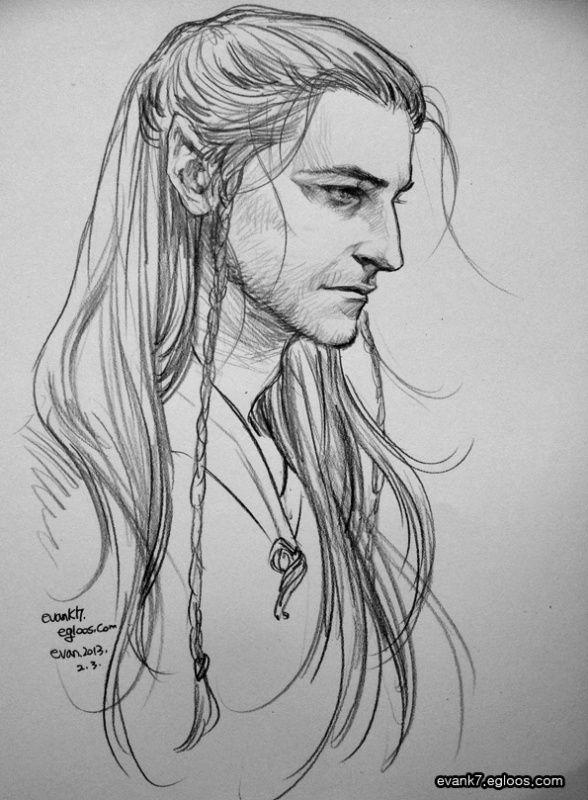evank\'s artworks : The Hobbit This is RA as Beleg, my favourite elf ...