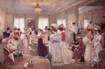 Henri Gervex, Cinq heures chez Paquin, 1906, oil on canvas, 172 x 113 cm, Private Collection
