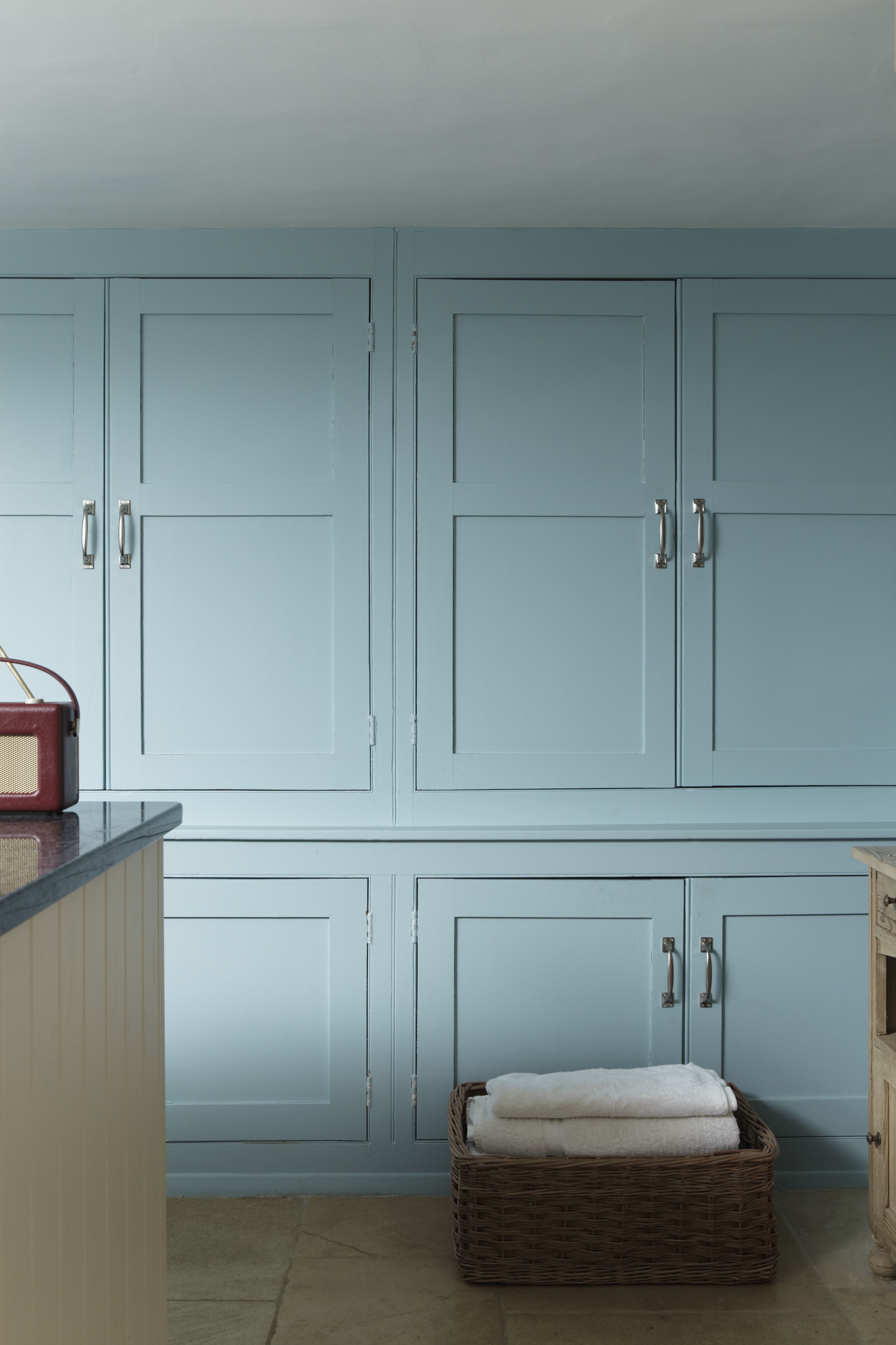 Eggshell Kitchen Cabinets Cupboard In Blue Ground Estate Eggshell One More Example In